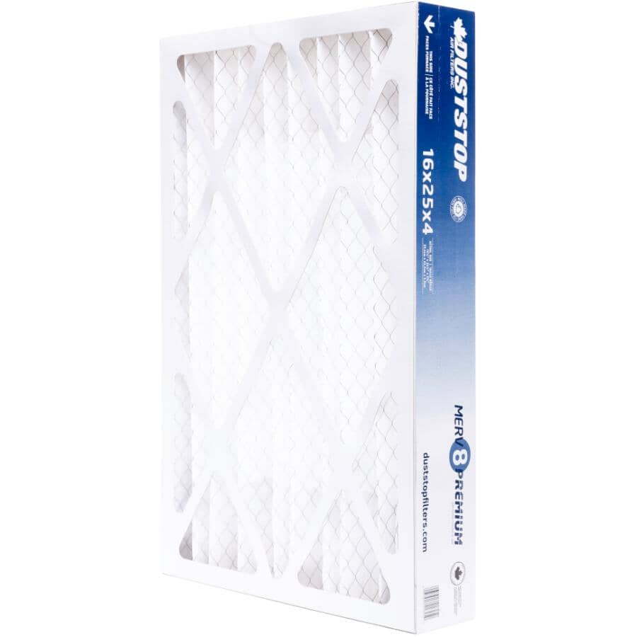 """DUSTSTOP:Pleated Furnace Filter - 4"""" x 16"""" x 25"""""""