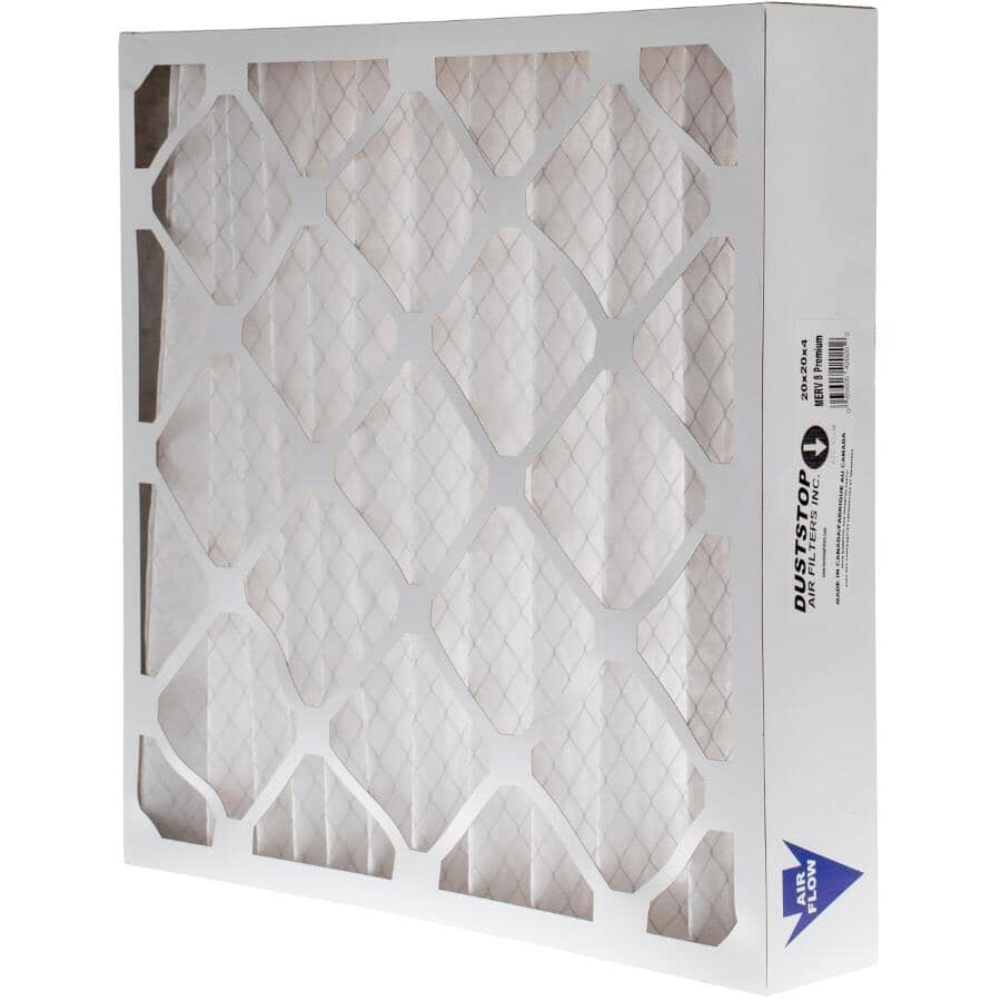 """DUSTSTOP:Pleated Furnace Filter - 4"""" x 20"""" x 20"""""""