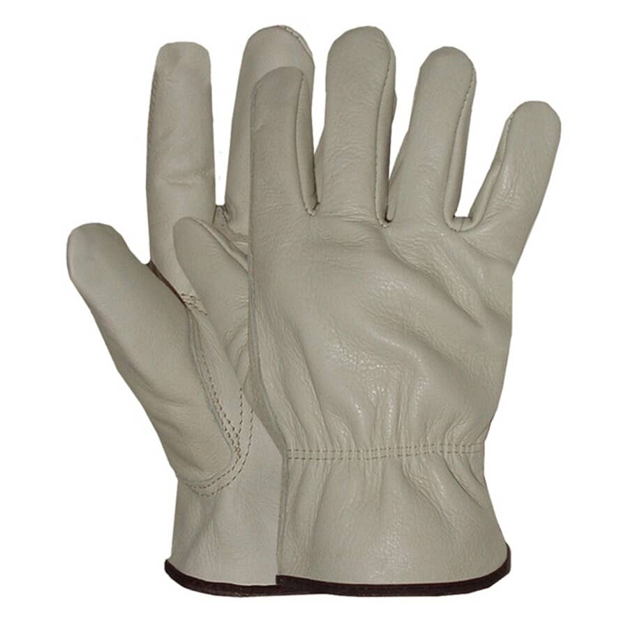 BOSS:Men's Full Grain Leather Driving Gloves - Extra Large, Taupe