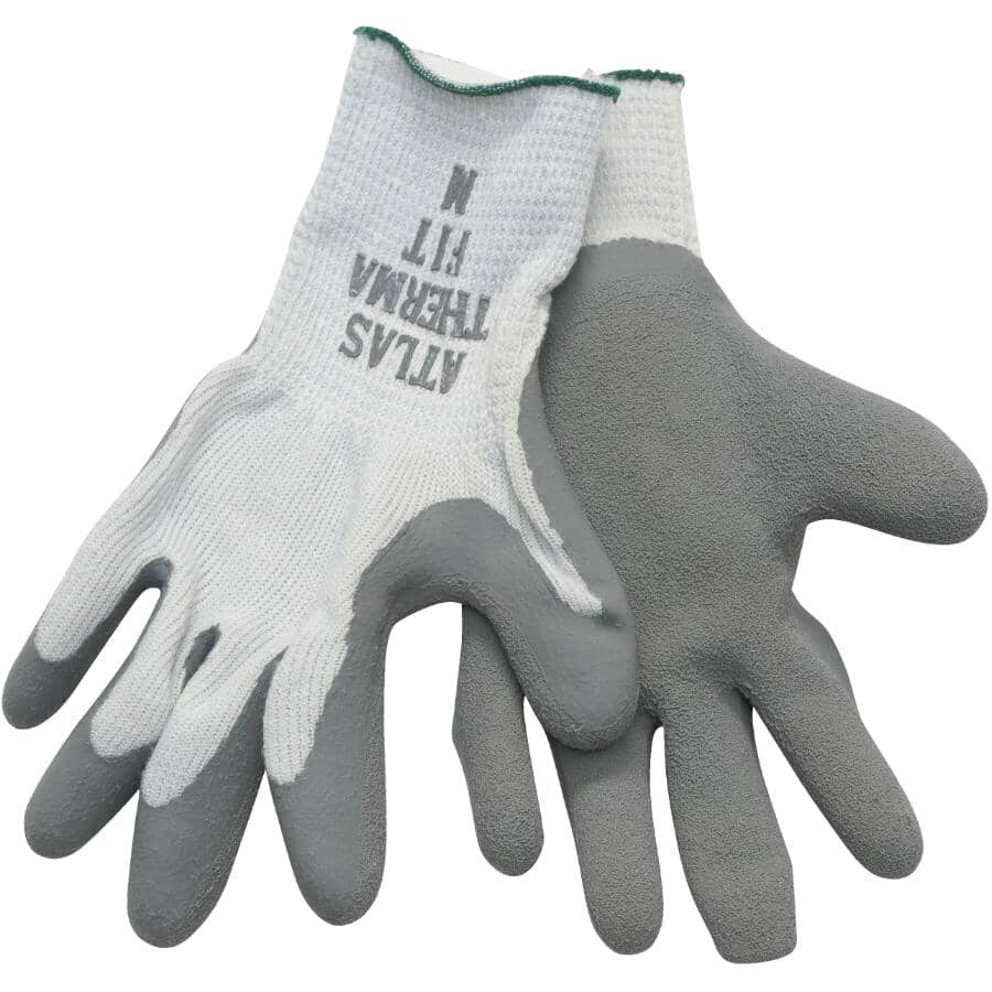 WATSON GLOVES:Men's Knit Lined Work Gloves - with Latex Rubber Coating, Medium