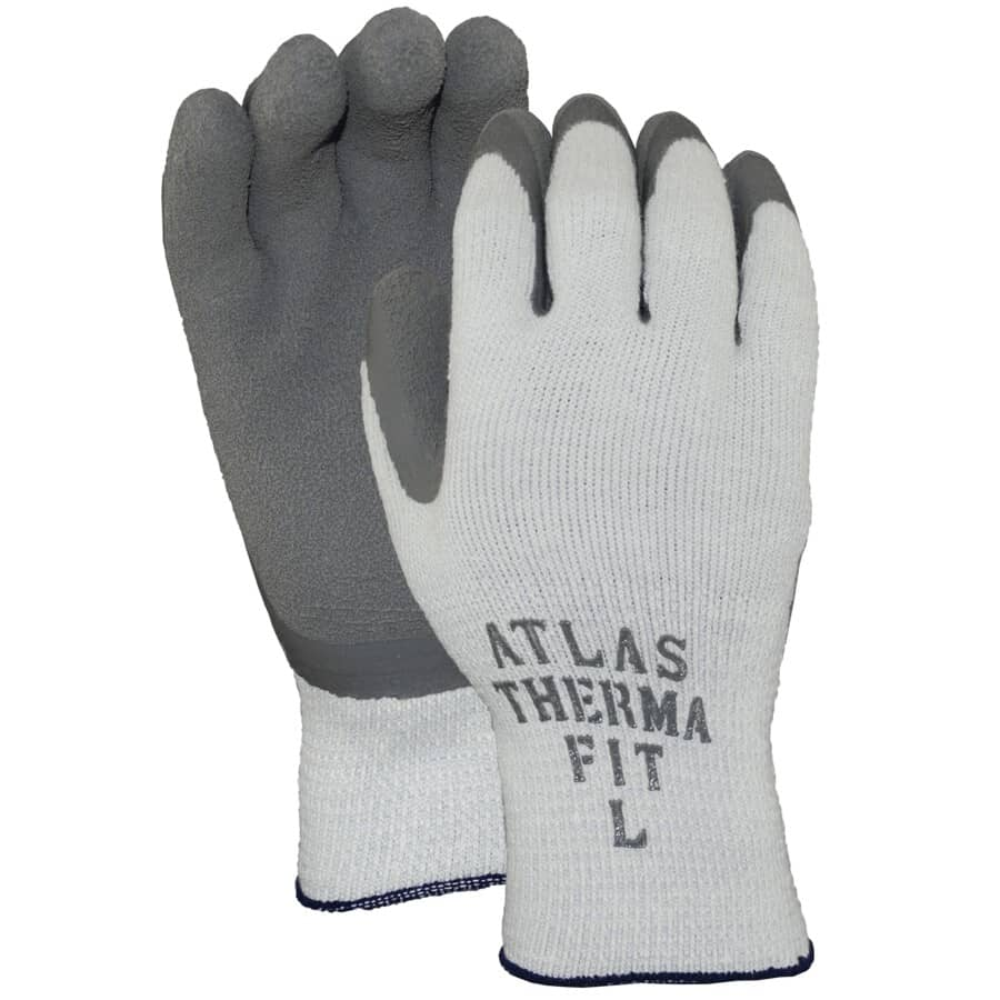 WATSON GLOVES:Men's Knit Lined Work Gloves - with Latex Rubber Coating, Extra Large