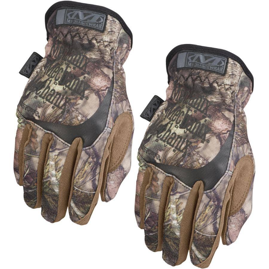 MECHANIX WEAR:FastFit Mossy Oak & Original Mechanics Gloves - Large, 2 Pairs