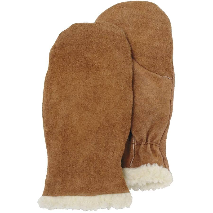 BOSS:Men's Split Cowhide Leather Lined Winter Mitts - Large