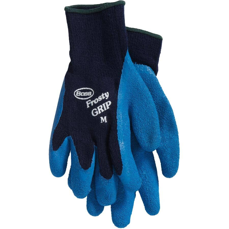 BOSS:Men's Latex Lined Work Gloves - with Frosty Grip, Medium