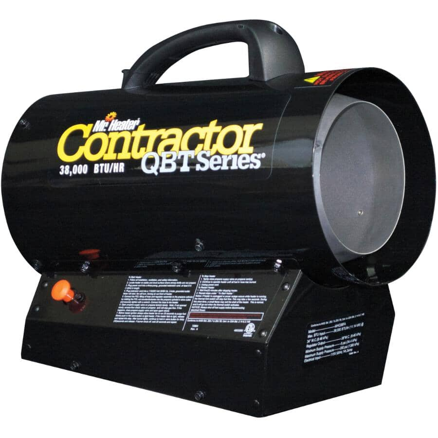 MR. HEATER:Forced Air Propane Heater - with Quiet Burner Technology, 38,000 BTU