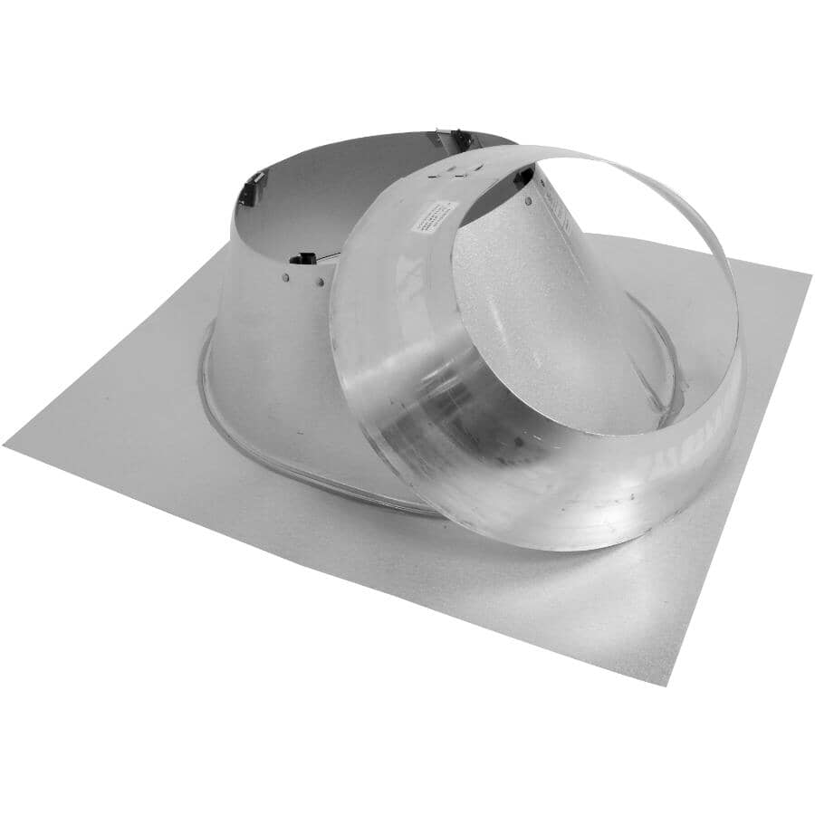 """SELKIRK:7"""" Insulated Galvalume Roof Flashing - 0/12 - 6/12 Pitch, 2"""" Insulation"""
