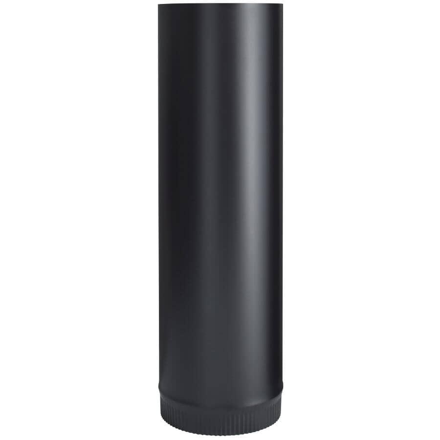 "IMPERIAL MANUFACTURING:7"" Diameter x 24""L 24 Gauge Black Stove Pipe"