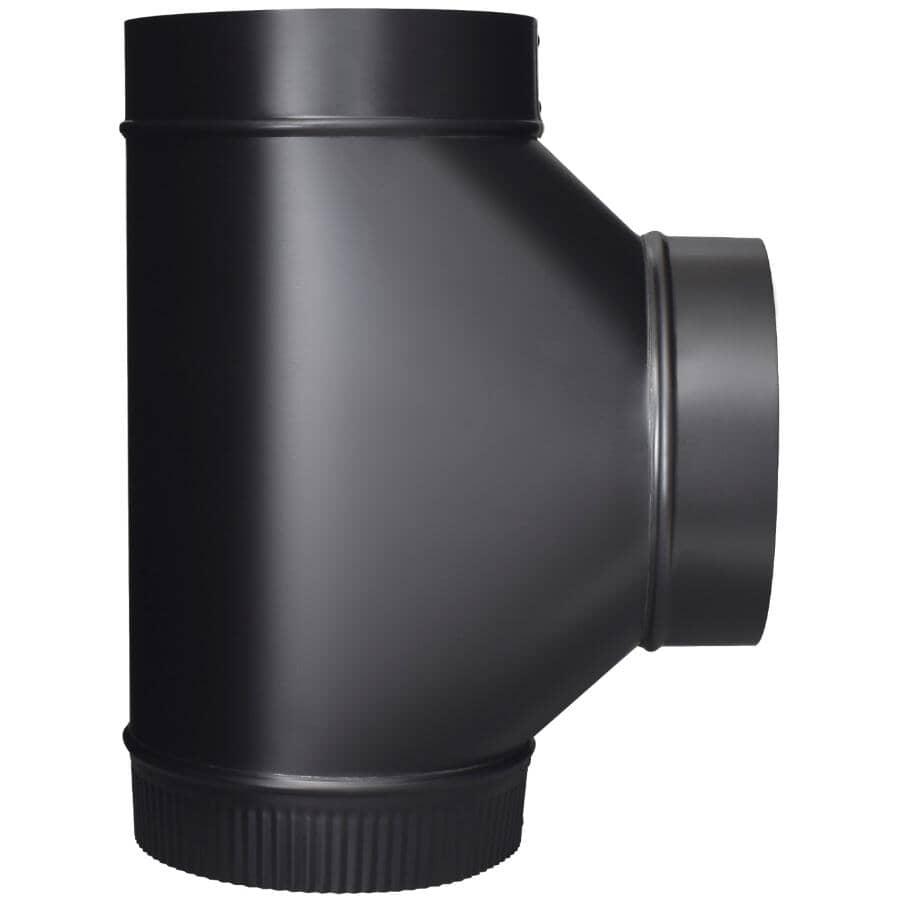 "IMPERIAL MANUFACTURING:7"" Diameter 24 Gauge Black Stove Pipe Tee"