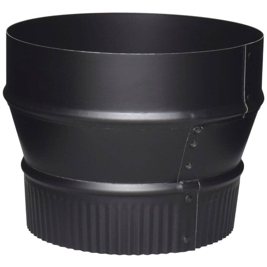 "IMPERIAL MANUFACTURING:7"" Plain x 6"" Crimp 24 Gauge Black Stove Pipe Reducer"