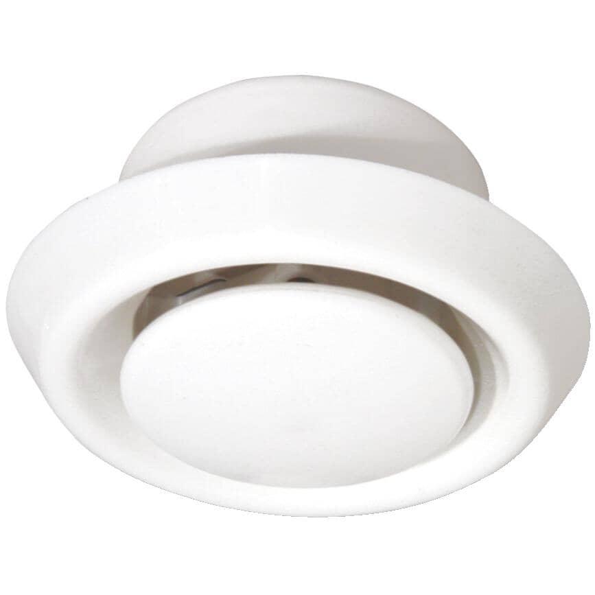 """DUNDAS-JAFINE:Round Air Diffuser - 6"""", White"""