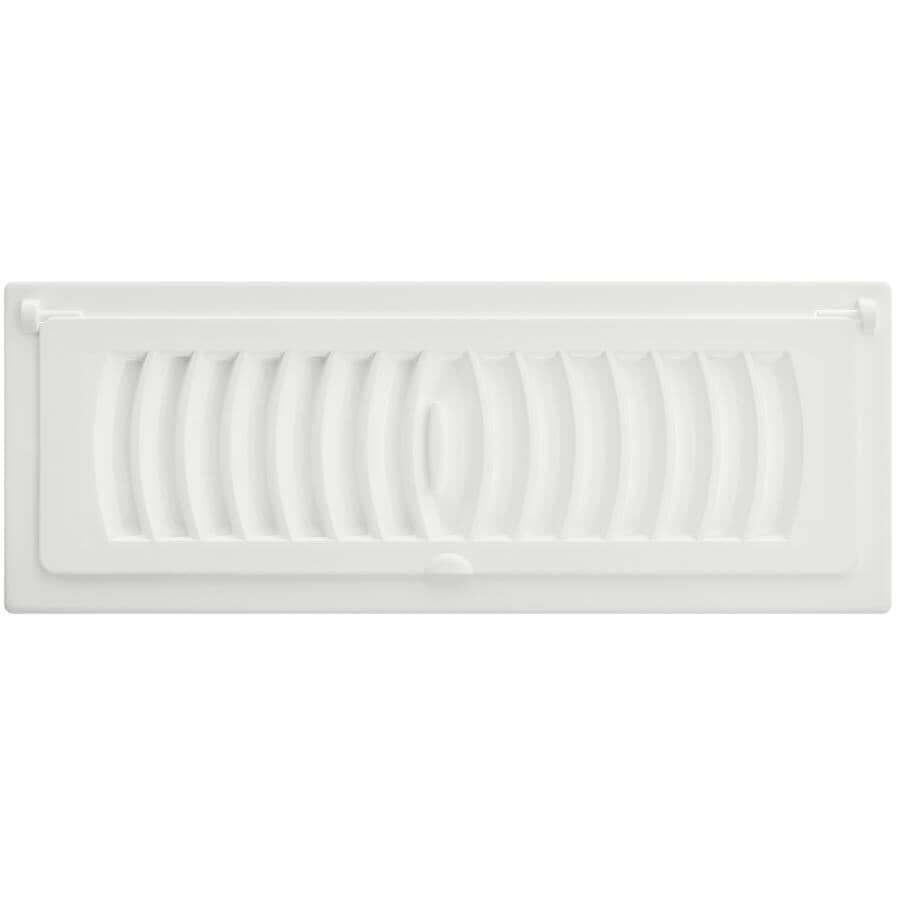 """IMPERIAL MANUFACTURING:3"""" x 10"""" White Pop-Up Poly Air Register"""