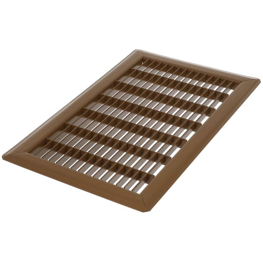 """IMPERIAL MANUFACTURING:8"""" x 14"""" Brown Floor Grille"""