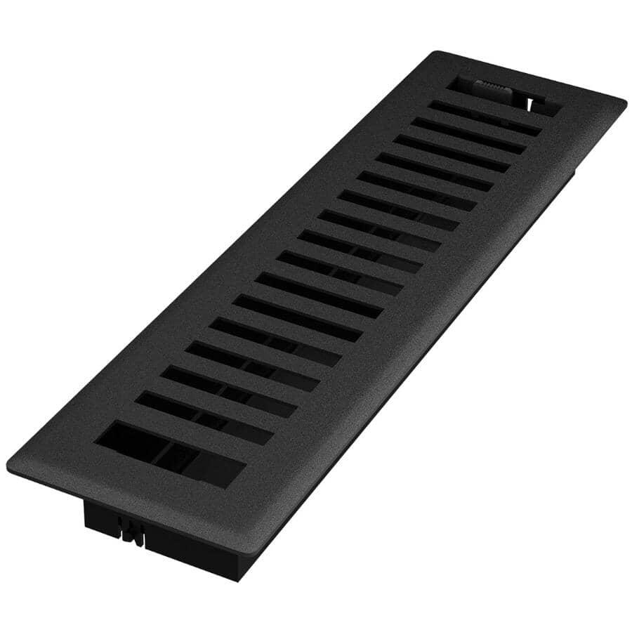 """IMPERIAL MANUFACTURING:2.25"""" x 12"""" Montezuma Black Iron Floor Register"""