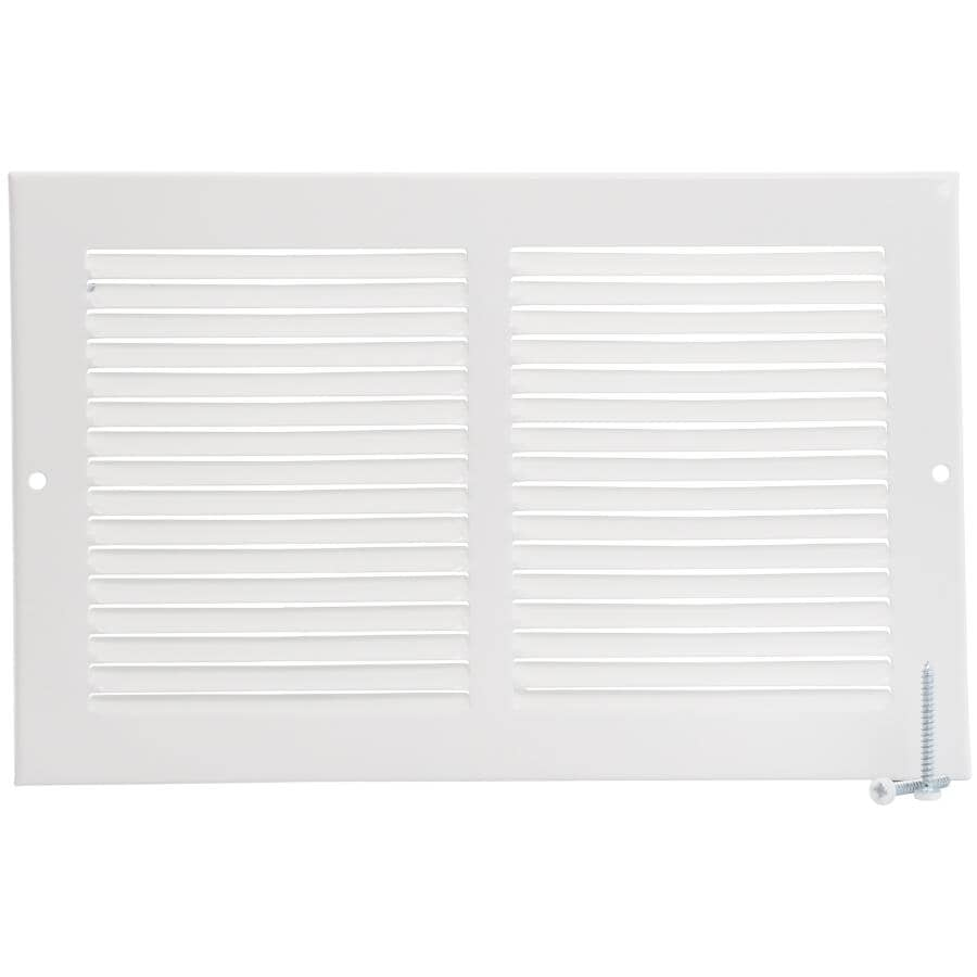 """IMPERIAL MANUFACTURING:10"""" x 6"""" White Sidewall Grille"""