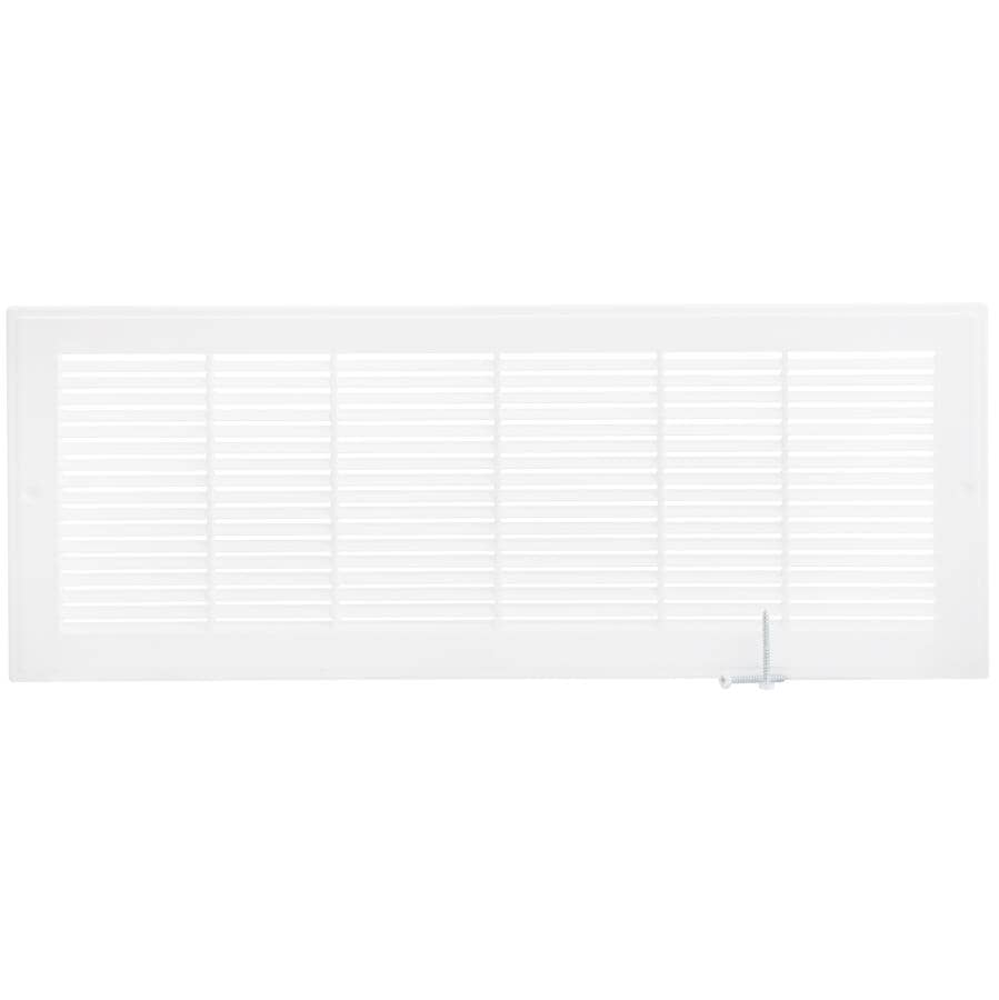 """IMPERIAL MANUFACTURING:6"""" x 18"""" White Poly Air Return Grille"""