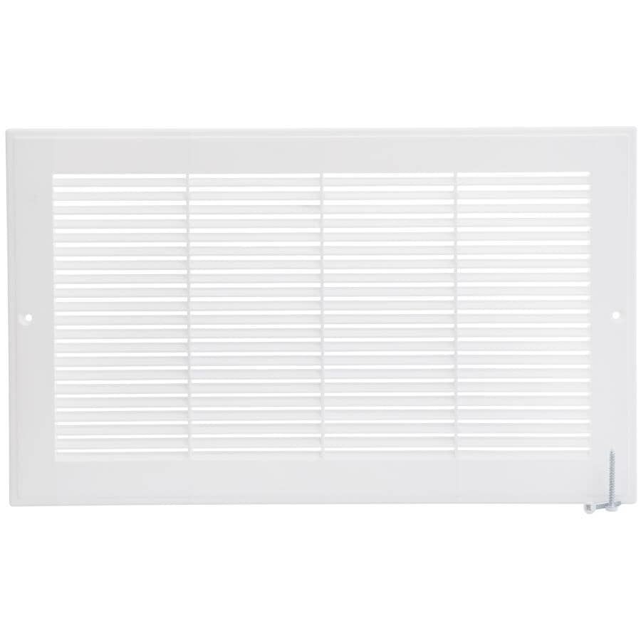 """IMPERIAL MANUFACTURING:8"""" x 14"""" White Poly Air Return Grille"""