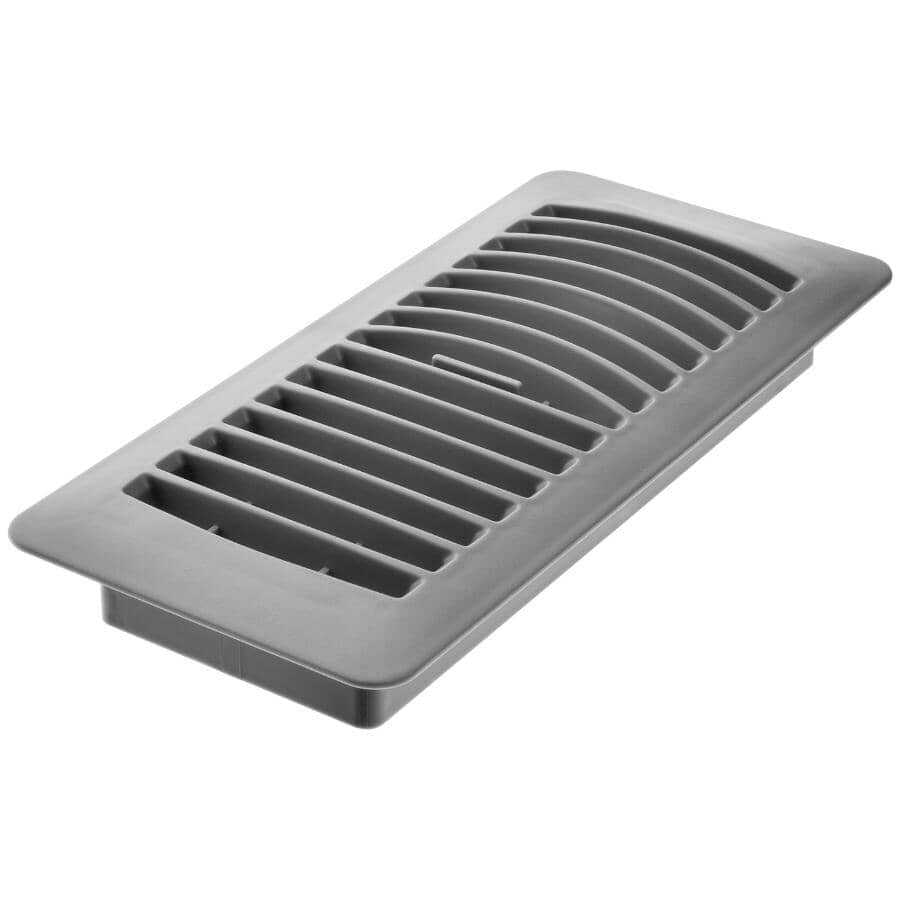 """IMPERIAL MANUFACTURING:4"""" x 10"""" Grey Poly Floor Register"""