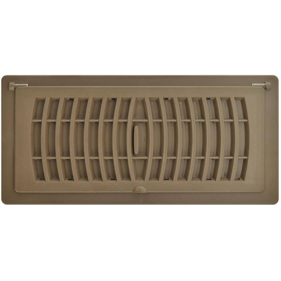 """IMPERIAL MANUFACTURING:4"""" x 10"""" Tan Pop-Up Poly Air Register"""