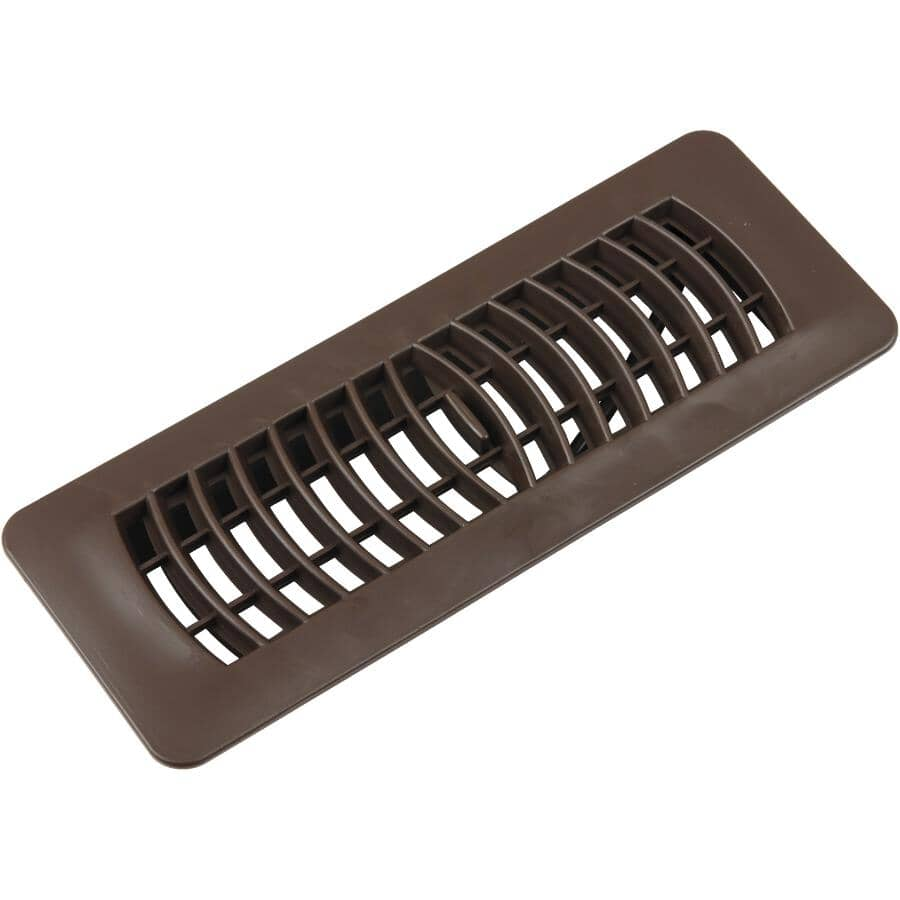 """IMPERIAL MANUFACTURING:3"""" x 10"""" Brown Poly Floor Register"""