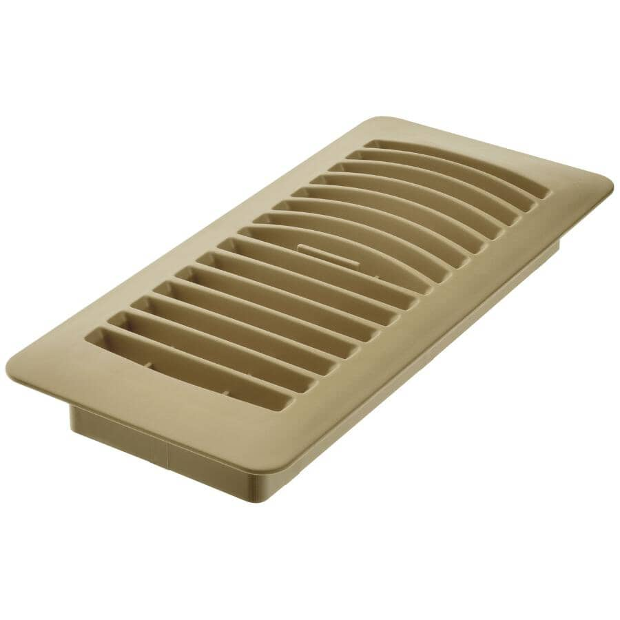 """IMPERIAL MANUFACTURING:4"""" x 10"""" Taupe Poly Floor Register"""