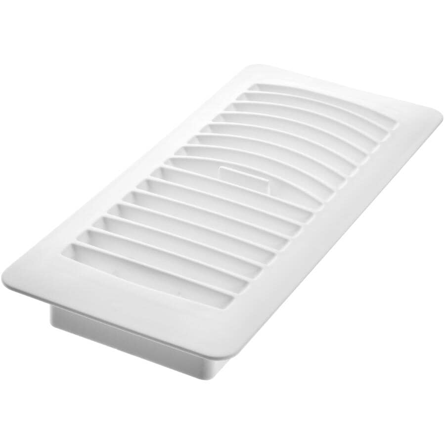 """IMPERIAL MANUFACTURING:Poly Floor Register - 4"""" x 10"""", White, 6 Pack"""