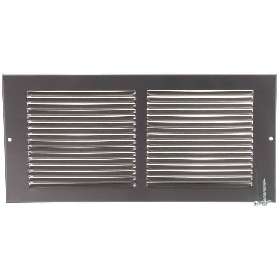 """IMPERIAL MANUFACTURING:6"""" x 14"""" Pewter Sidewall Grille"""