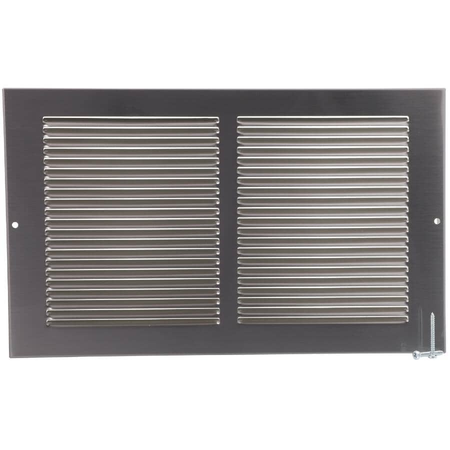 """IMPERIAL MANUFACTURING:8"""" x 14"""" Pewter Sidewall Grille"""