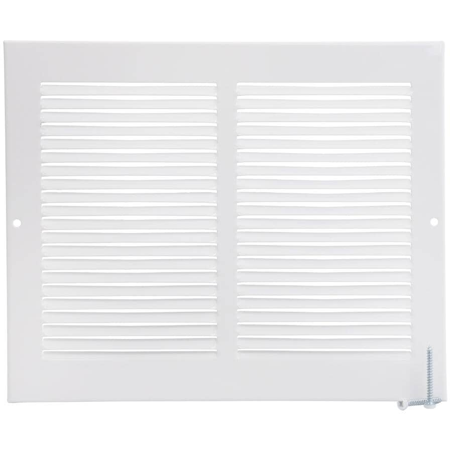 """IMPERIAL MANUFACTURING:8"""" x 10"""" White Sidewall Grille"""