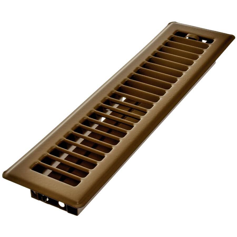 "IMPERIAL MANUFACTURING:2-1/4"" x 12"" Brown Floor Register"