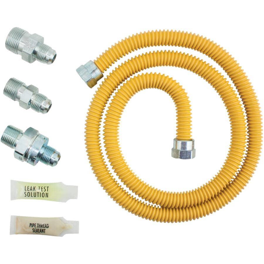"DORMONT:5/8"" OD Flare x 1/2 MIP Gas Connector Kit - with Smartsense Shut Off"