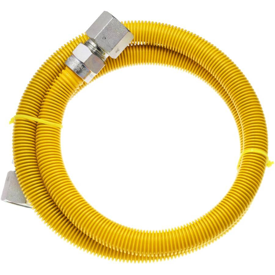 """WATERLINE PRODUCTS:48"""" 3/4"""" Stainless Steel Female Imperial Pipe Gas Hose Connector"""