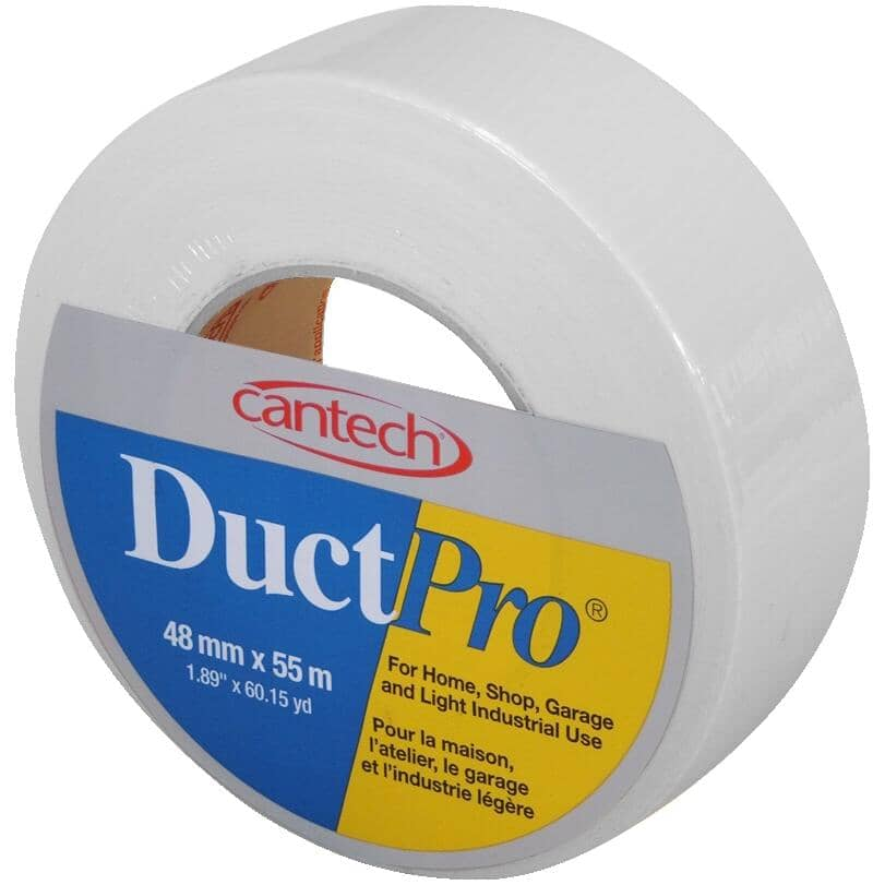 CANTECH:Cloth Duct Tape - White, 48 mm x 55 m