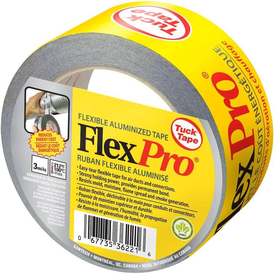 TUCK TAPE:Flexpro Duct Tape - 48 mm x 50 m, Silver