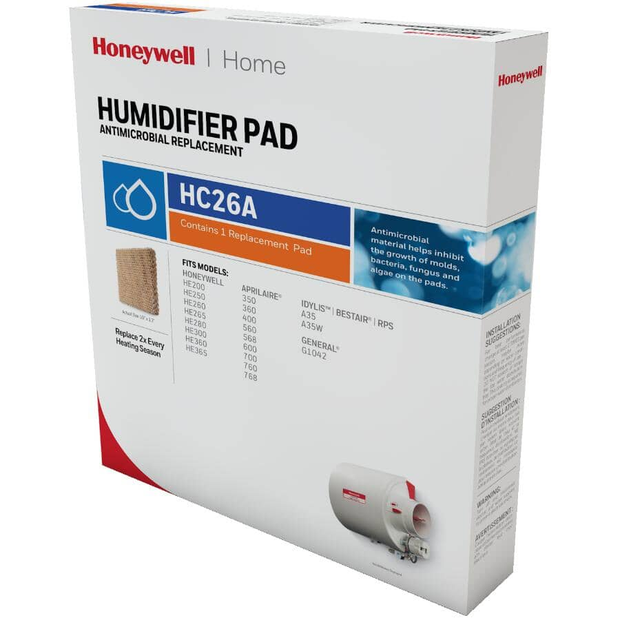 HONEYWELL HOME:Replacement Humidifier Pad - for HE260 &HE360