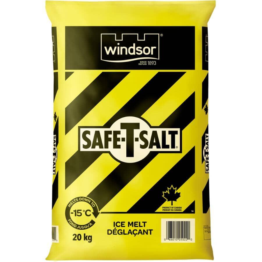 WINDSOR SALT:Safe-T-Salt Ice Melt - 20 kg