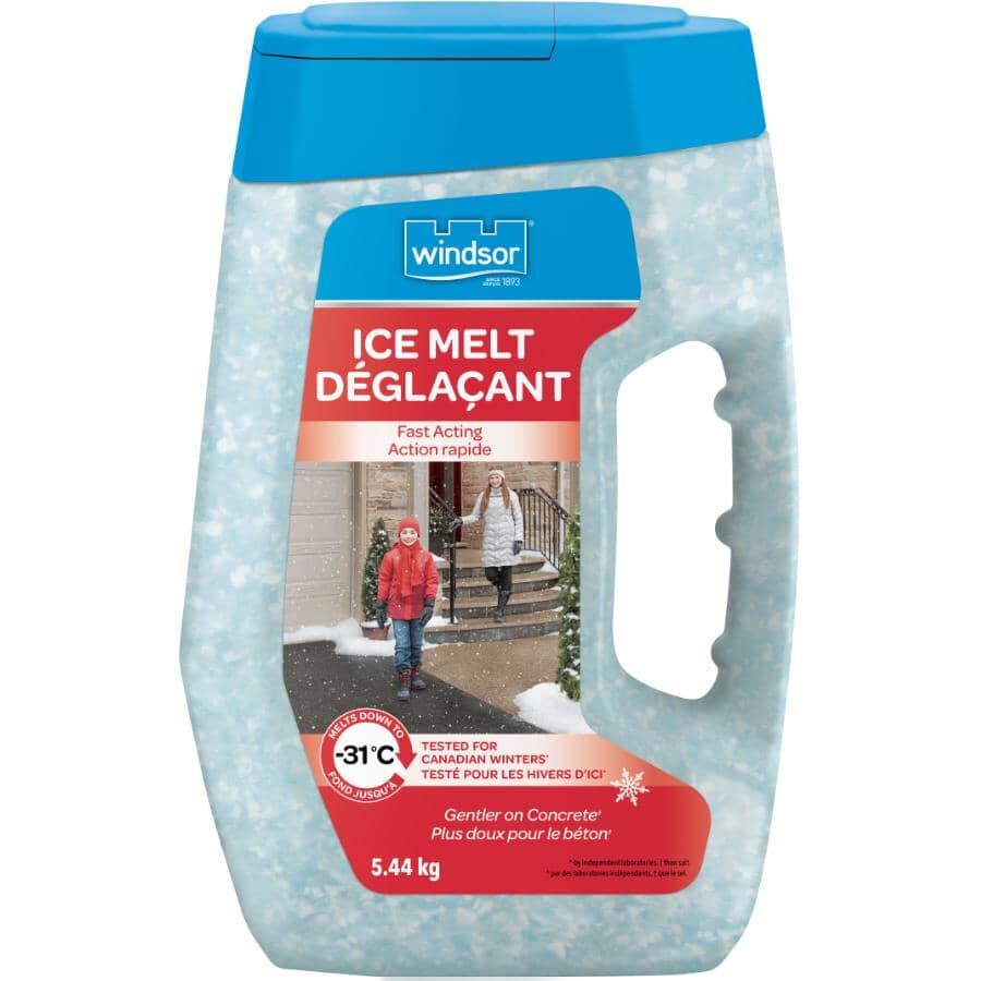 WINDSOR SALT:Fast Acting Ice Melt Jug - 5.44 kg