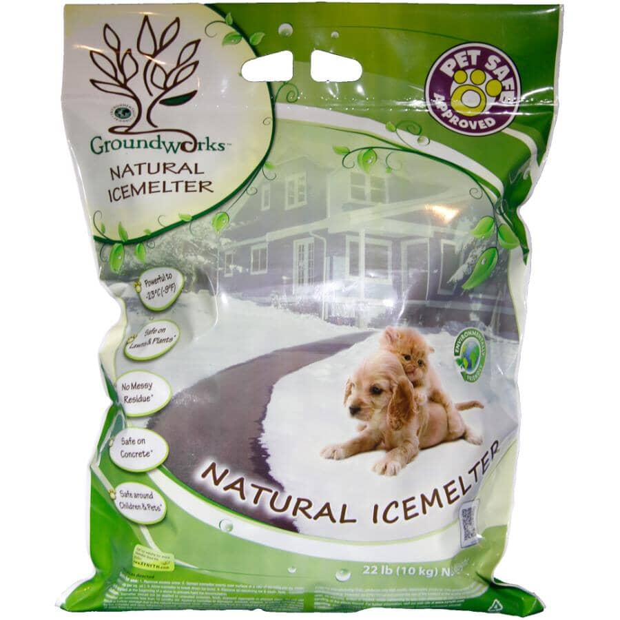 GROUNDWORKS NATURAL:22lbs Natural Ice Melter