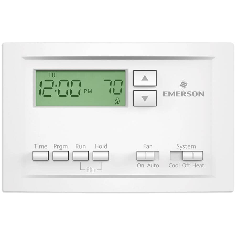 EMERSON:Single Stage Programmable Thermostat - With 5-1-1 Scheduling