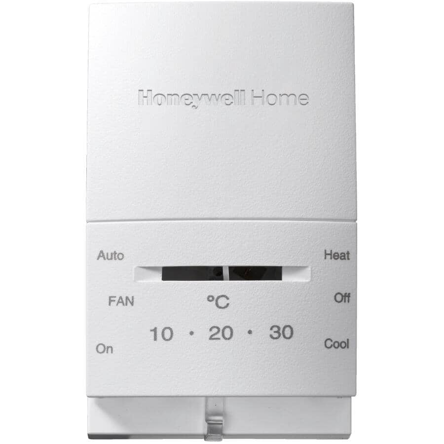 HONEYWELL HOME:Manual Heat & Cool Thermostat - White
