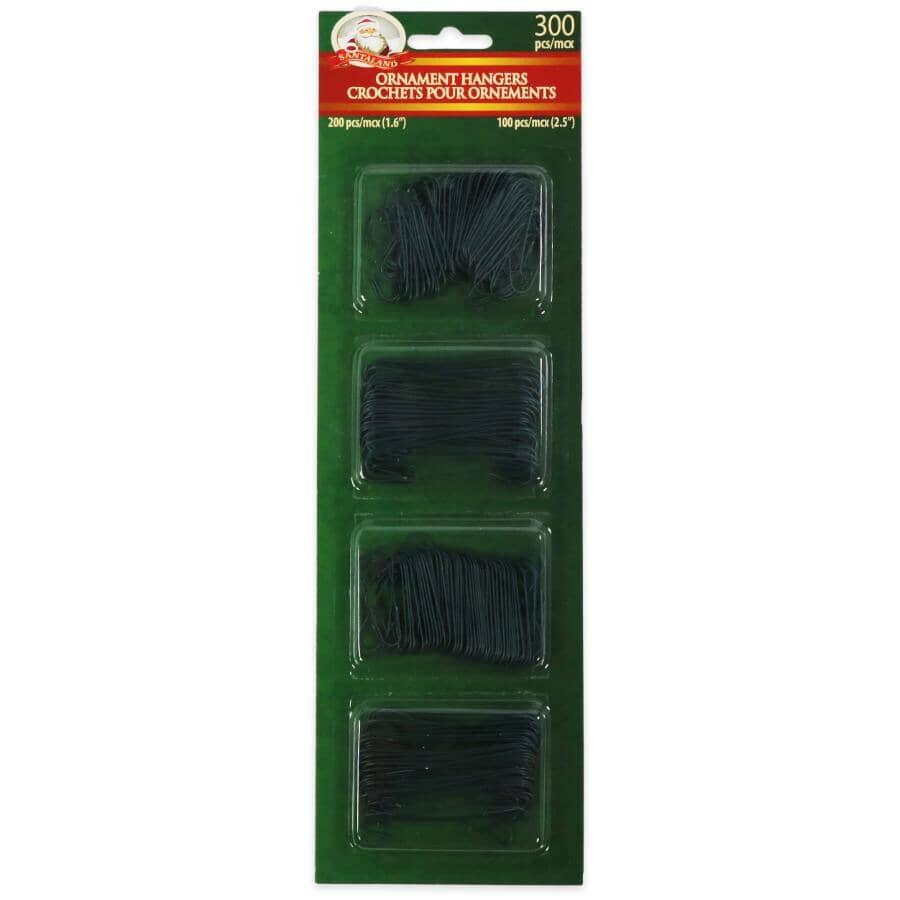 SANTALAND:Paquets de 300 crochets verts petits/grands pour décoration