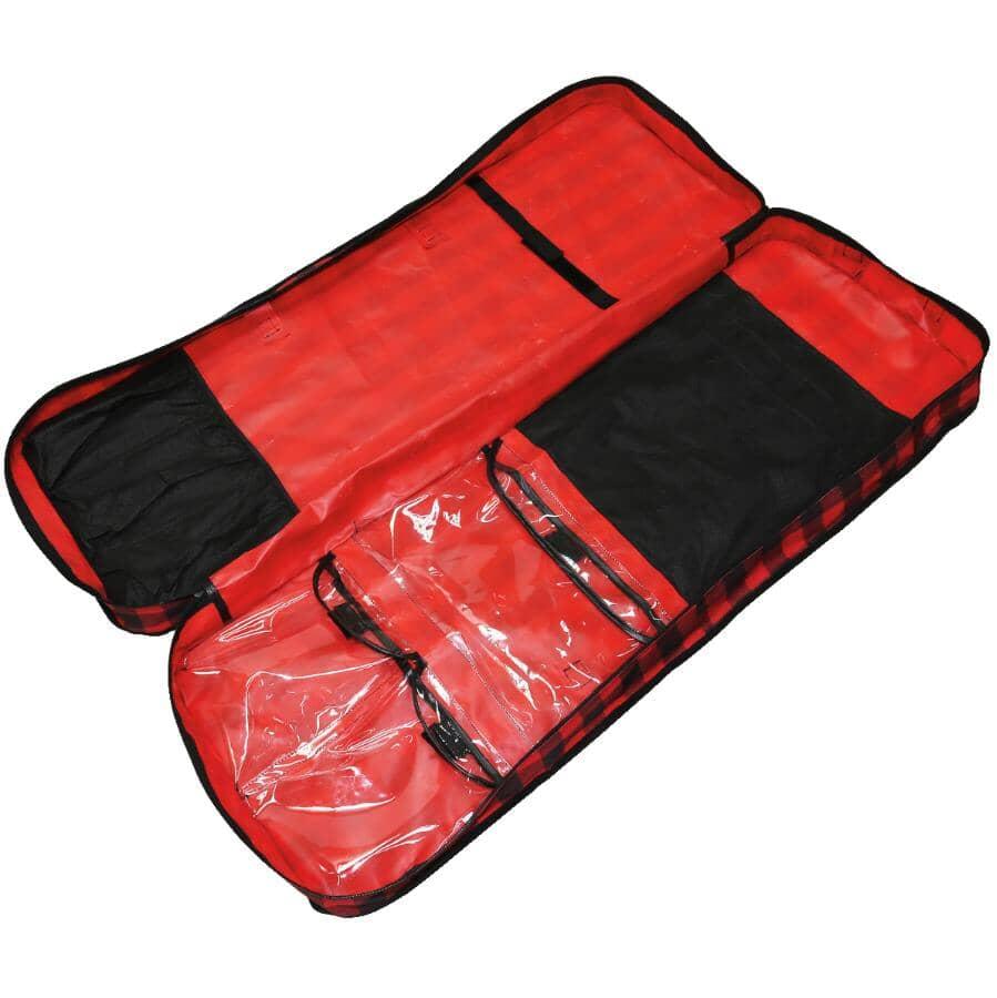 "NEW TRADITIONS:39"" Gift Wrap Plaid Storage Bag"