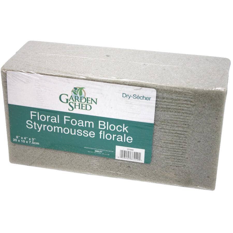 """SANTALAND:8"""" x 4"""" x 3"""" Floral Dry Foam Block"""
