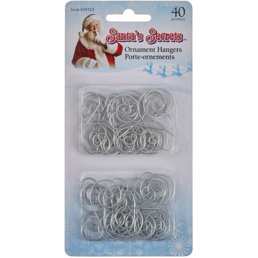 SANTA'S SECRETS:40 Pack Scroll Ornament Hangers