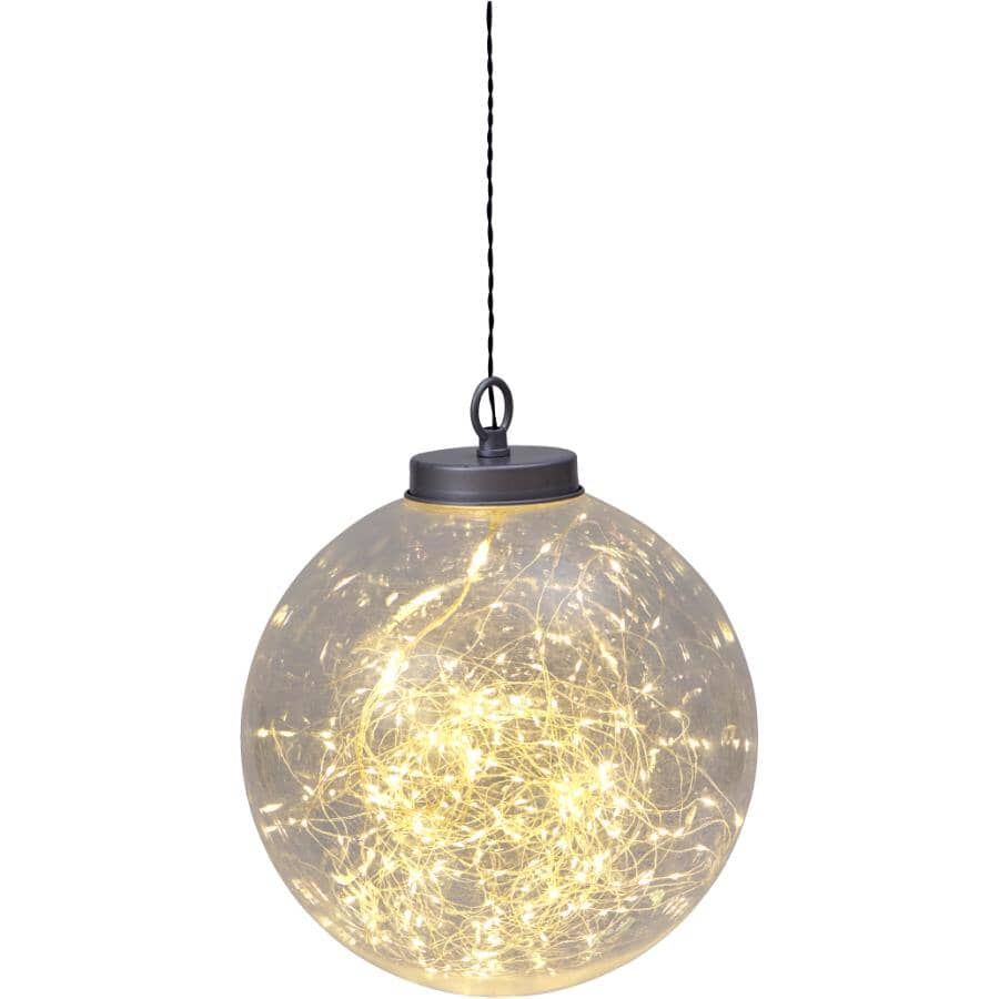 """INSTYLE HOLIDAY:7.8"""" Hanging Sphere - 50LED Colour Changing Lights + Battery Operated"""