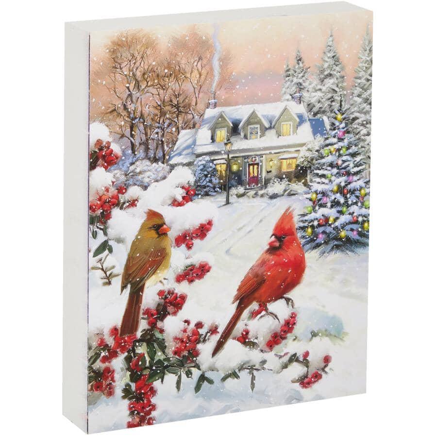 "STREAMLINE ART:Christmas Cardinal Wall Box Plaque - 7"" x 9"""