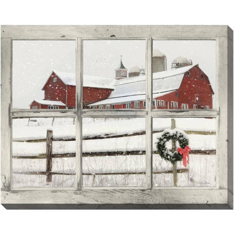 "STREAMLINE ART:Winter View Hand Embellished Wall Art - 22"" x 28"""