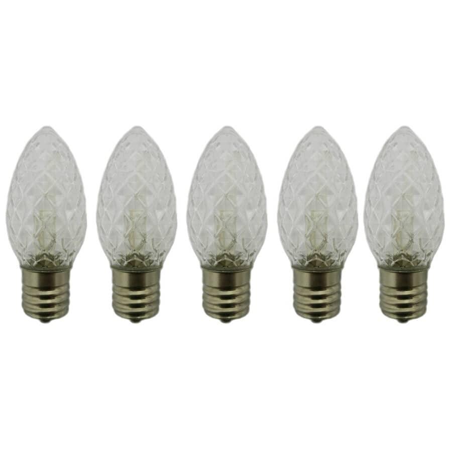 INSTYLE HOLIDAY:Paquet de 5 ampoules de rechange C9 à DEL, blanc