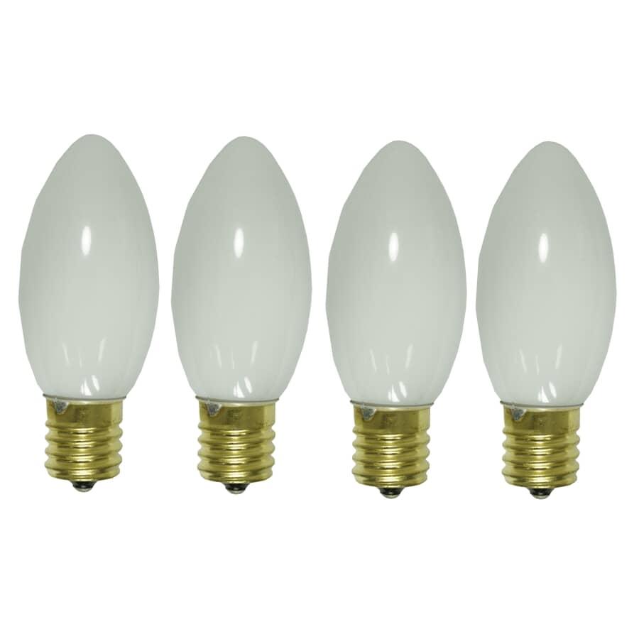 SYLVANIA:Paquet de 4 ampoules C9 incandescentes pour l'extérieur, blanc luisant