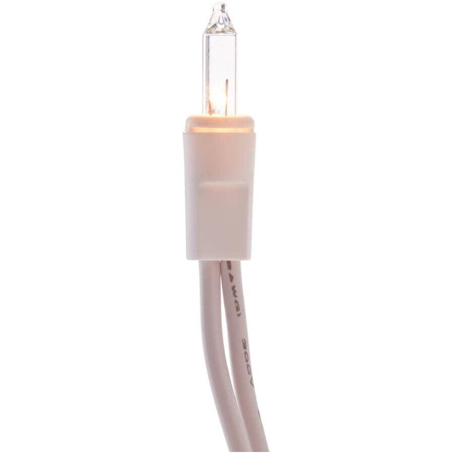 INSTYLE HOLIDAY:Jeu de 100 lumières miniatures incandescentes sur fil blanc, transparent