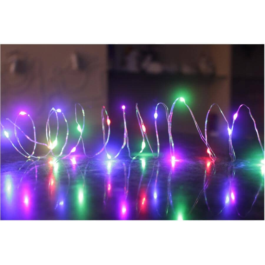 INSTYLE HOLIDAY:Indoor Dot Light Set - 25 Multi Colour LED Lights + Battery Operated